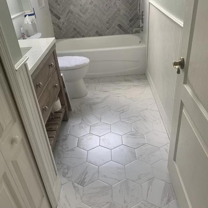 Marbre 9 X 10 Porcelain Stone Look Wall Floor Tile Small Bathroom Tiles Bathrooms Remodel Bathroom Remodel Shower
