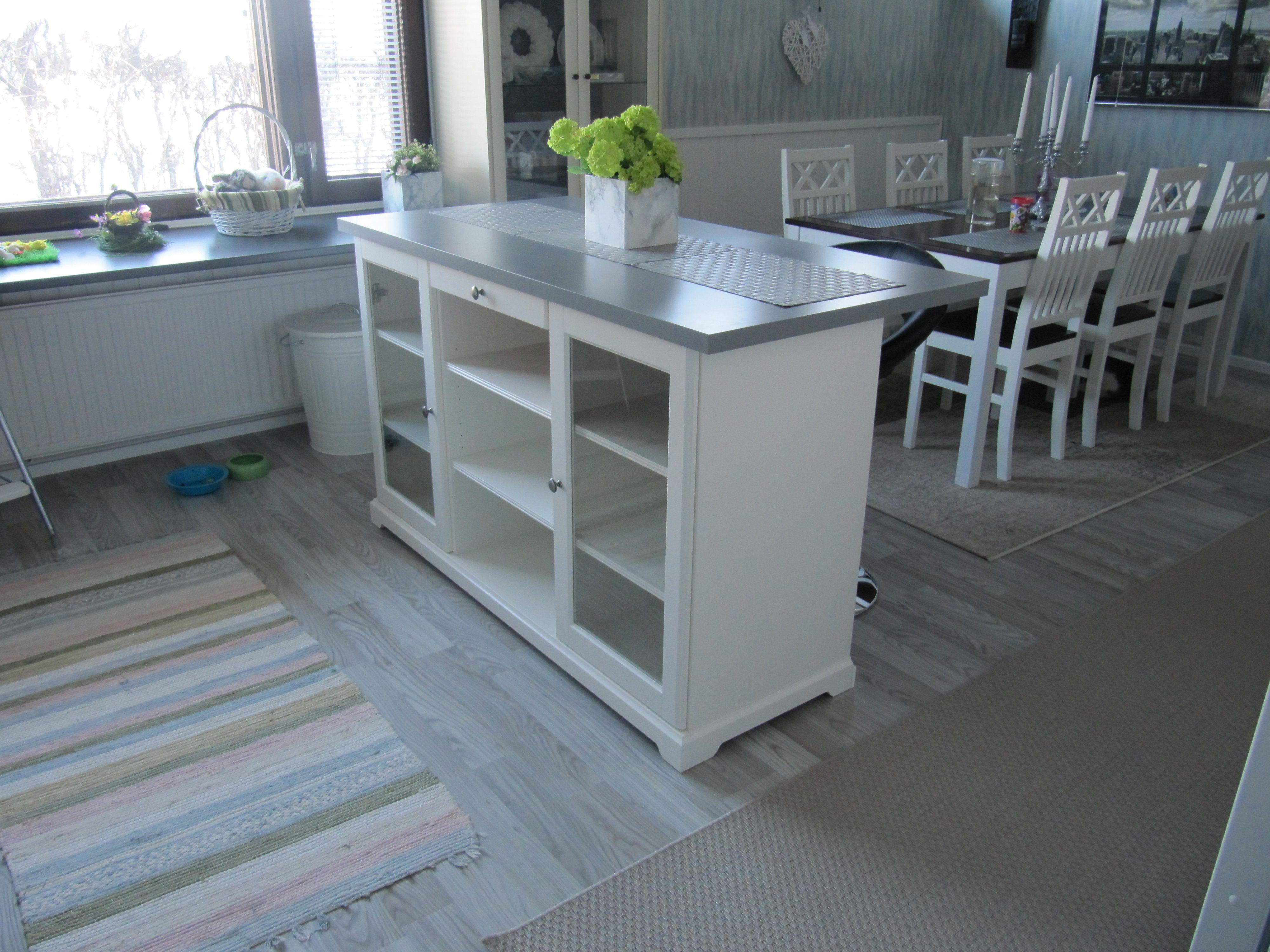 Credenza Liatorp Ikea : Kitchen after renovation. ikea hack liatorp senkki linnmom