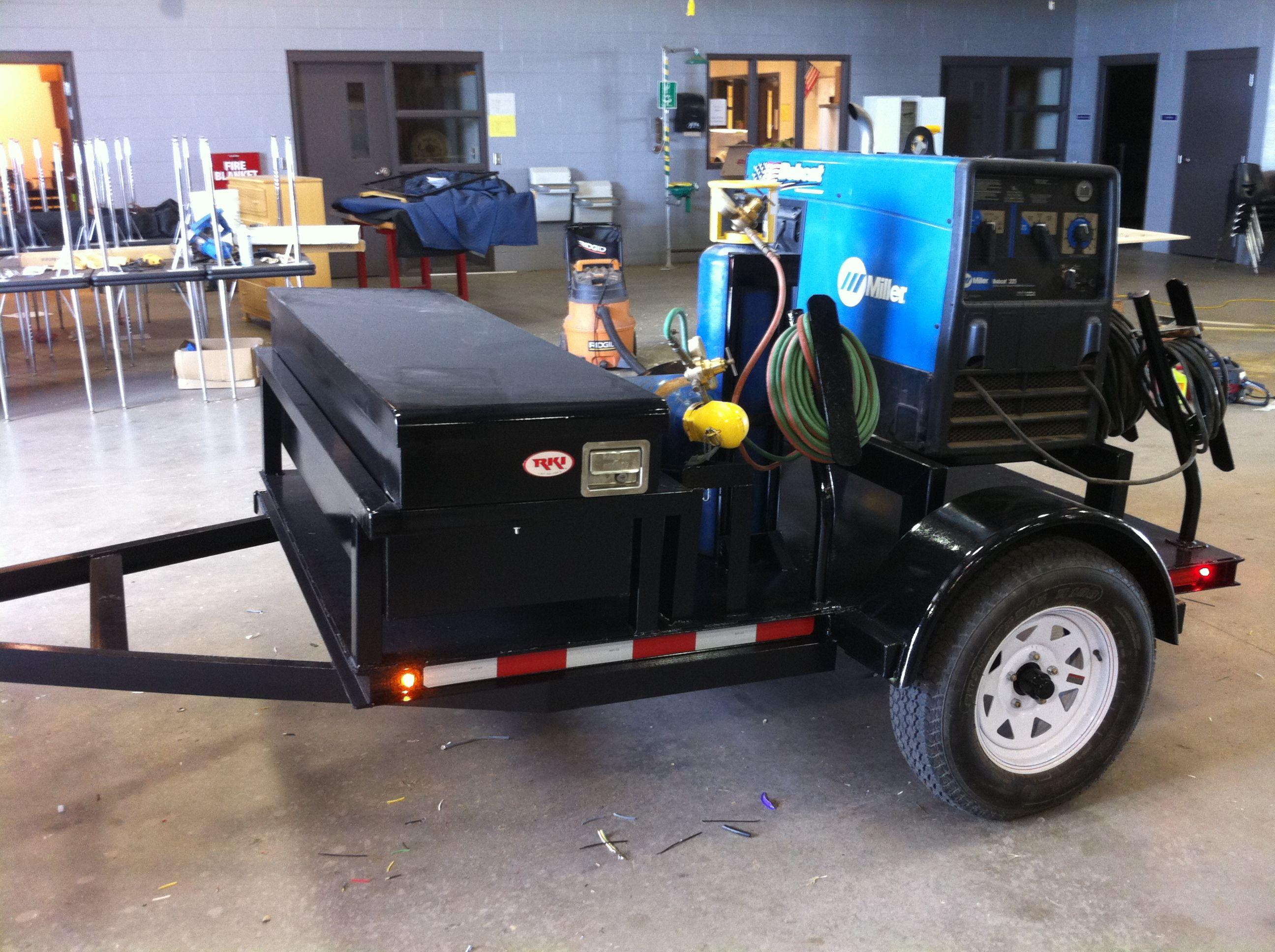 Welding Trailer Welding trailer, Welding projects
