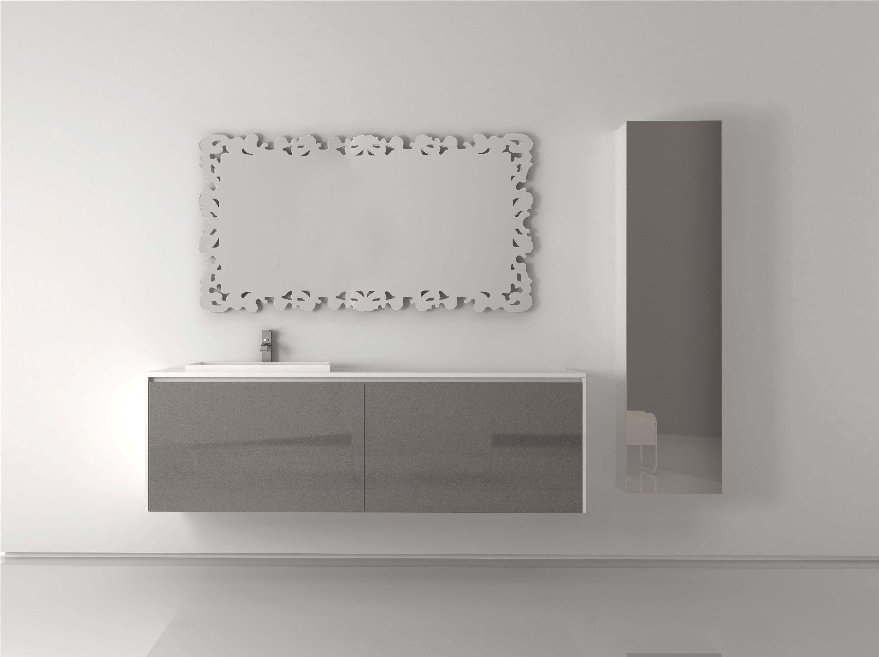 Mueble de baño Vela plata metalizado y blanco | Muebles para tu ...