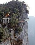 China's newest tourist attraction... a glass-bottomed walkway around