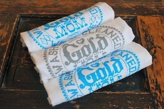 3 Gold Medal MomKitchen Towels Gift for MOM Flour Sack Towels Tea Towels  Dish Towels  by Modern Vintage Market Mothers Day 3 Gold Medal MomKitchen Towels Gift for MOM Fl...