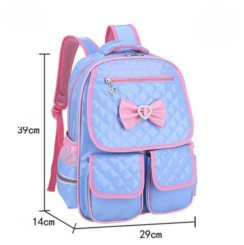 559c3a9069a6 2017 Cute Children School Bags Lovely Students Waterproof Leather Girls  Backpack Kids Butterfly Knot S L Book Bag For Teenager