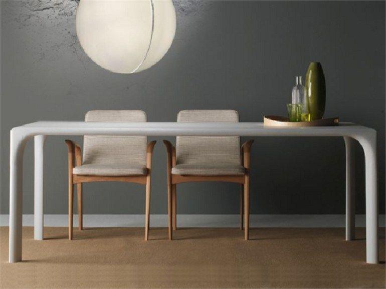 Sedie sintesi ~ Table à manger rectangulaire en bois sintesi by linfa design