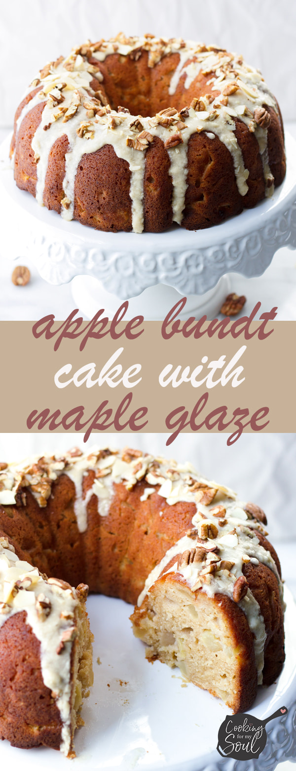 Apple Bundt Cake with Maple Glaze Easy Apple Bundt Cake with Maple Glaze! This fresh apple cake recipe is the perfect fall apple dessert |