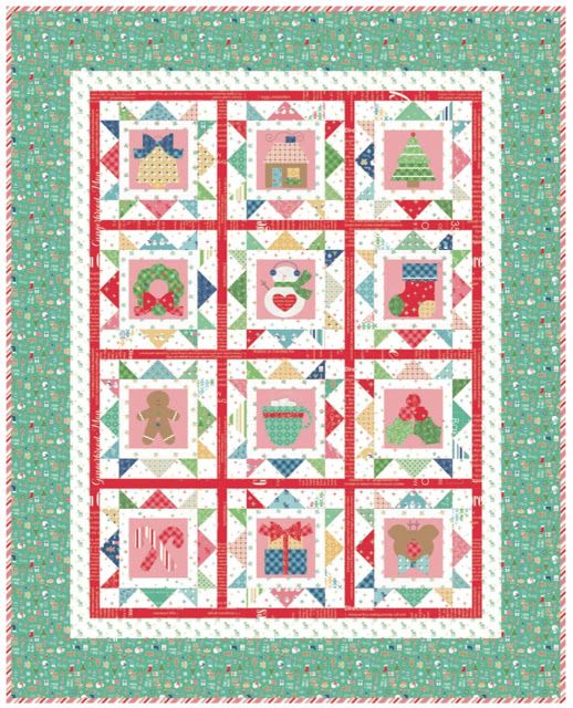Bee In My Bonnet: Cozy Christmas Sew Along - Week One - Block One ... : lori holt quilt patterns - Adamdwight.com