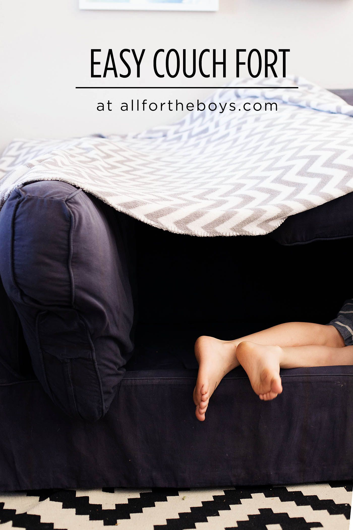 Easy couch fort built in couch couch activities for kids