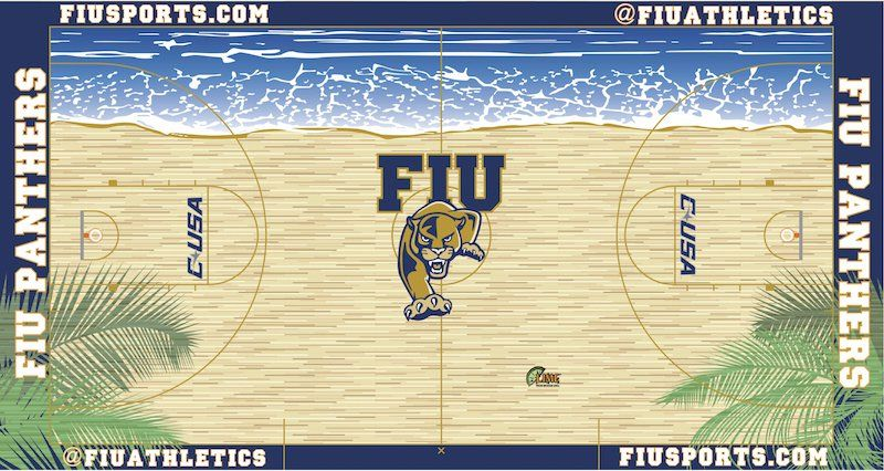 Fiu Basketball Court Google Search College Basketball College Basketball Courts Basketball Court