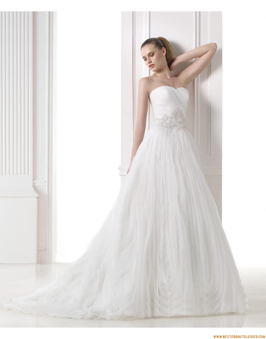 2015 A-linie Moderne Aktuelle Brautkleider aus Organza mit ...