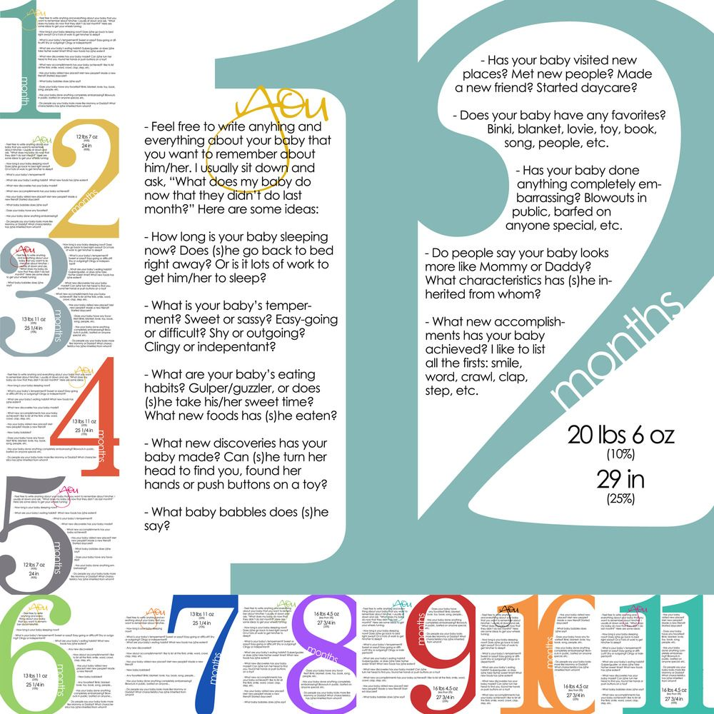 monthly milestone templates 1st year kid projects pinterest
