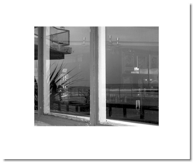 """Dave Gould black and white photography """"diner reflections"""" page"""