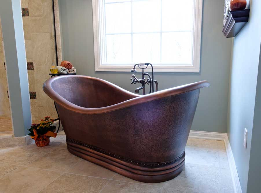 AWESOME copper soaking tub! Dave Fox Design, Columbus, Ohio ...