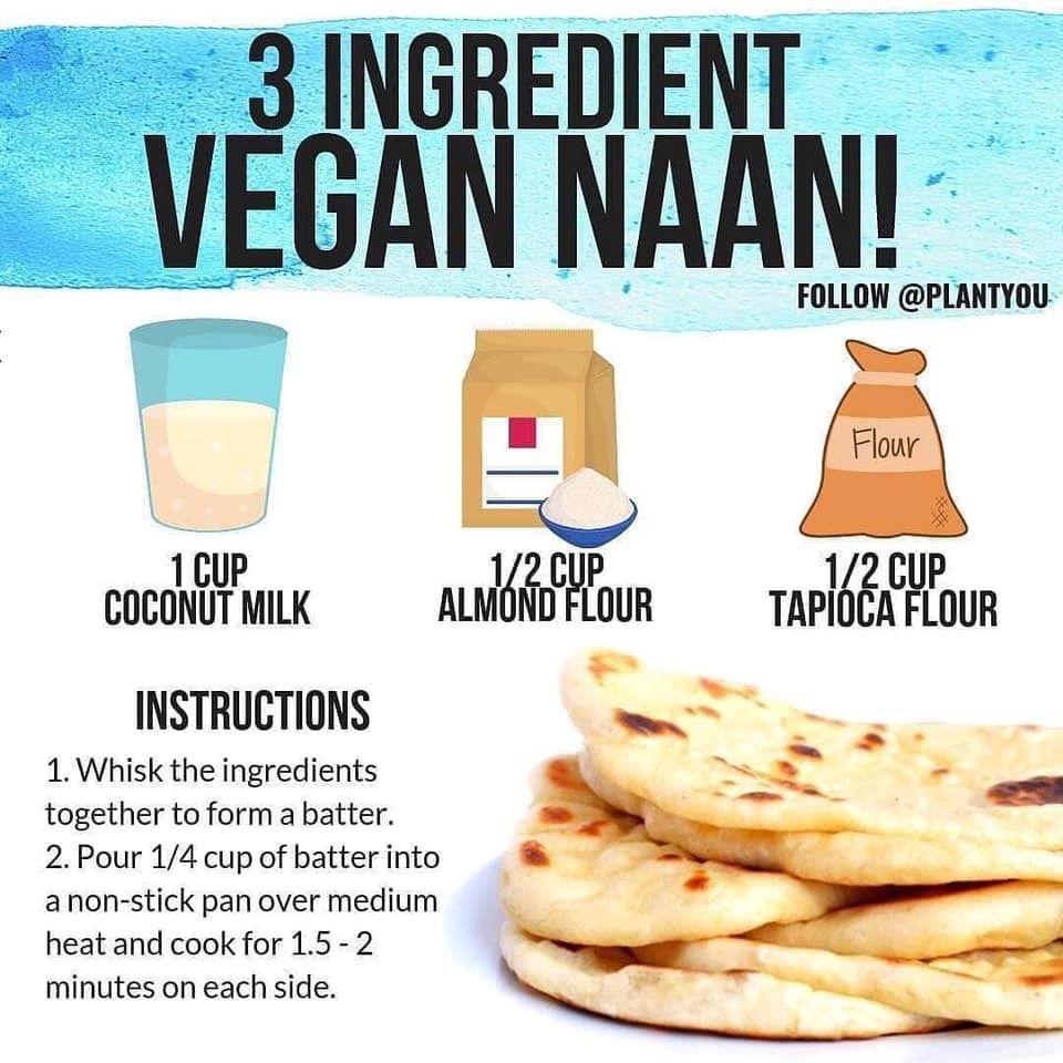 Vega Naan Easy Vegan Naan Vegan Recipes Healthy Vegan
