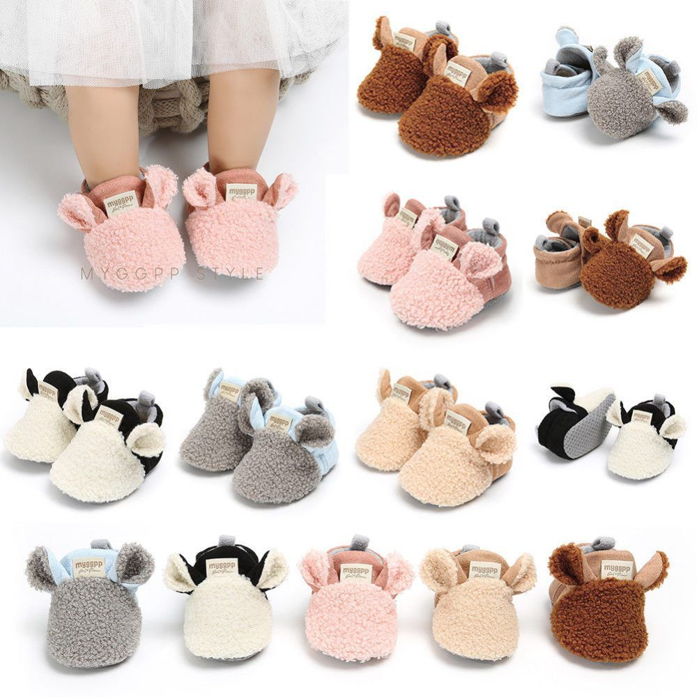 Baby Girl's Fluffy Animal Shaped Slippers Baby shoes