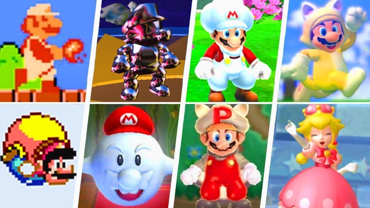 Evolution Of Super Mario Power Ups 1985 2019 Super Mario