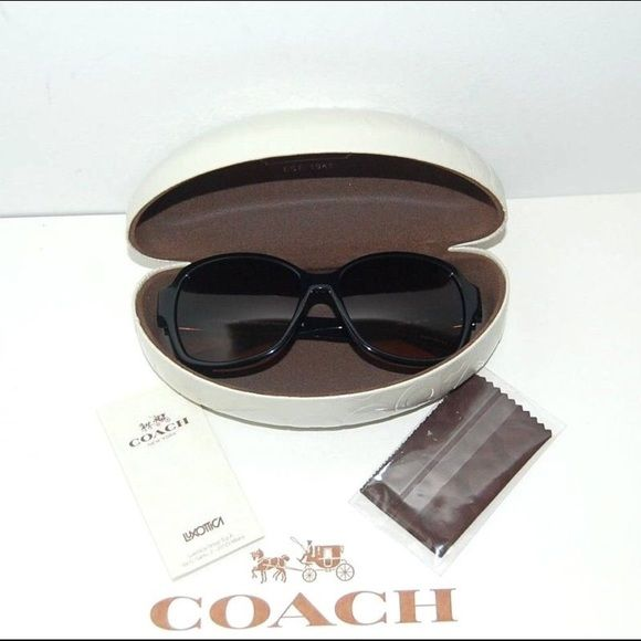 """Coach """"Barbara"""" Sunglasses Coach Barbara Sunglasses  Color: Dark Tortoise           Retail: $158 + tax  The Coach logo is on each temple and the arms have a raised """"C"""" logo design.  Size:  56mm, 15mm, 135mm  Saddle nose bridge  100% UV protection  5.5"""" across and 2"""" high.  100%  Authentic. •Yes I do ️️ Coach Accessories Sunglasses"""