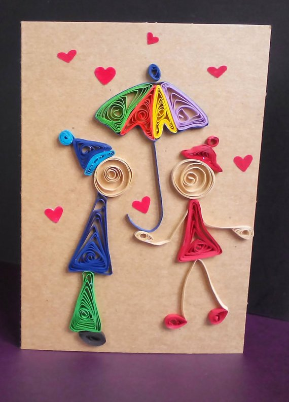 Quill card quilled love handmade valentine  also the best cards ideas images on pinterest quilling paper rh