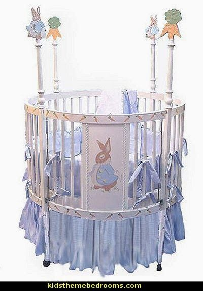 Bunny Round Baby Crib Peter Rabbit Nursery