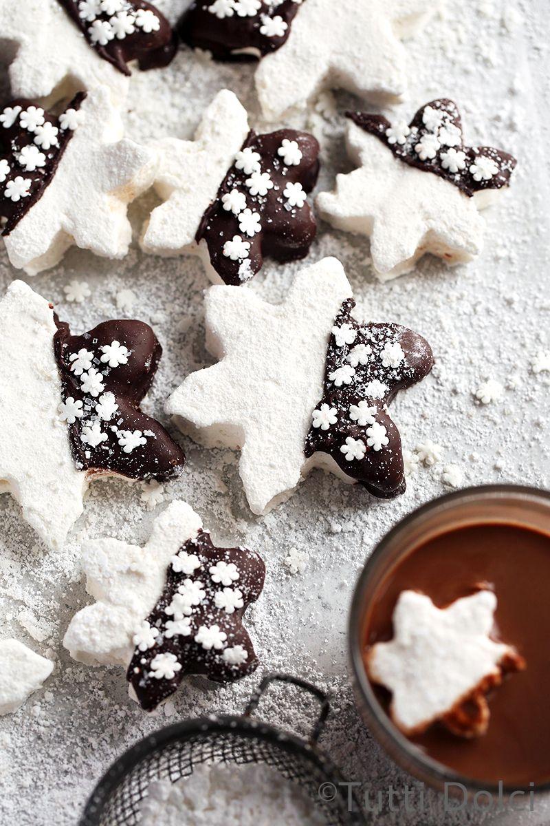 chocolate dipped marshmallows | Tutti Dolci #marshmallows
