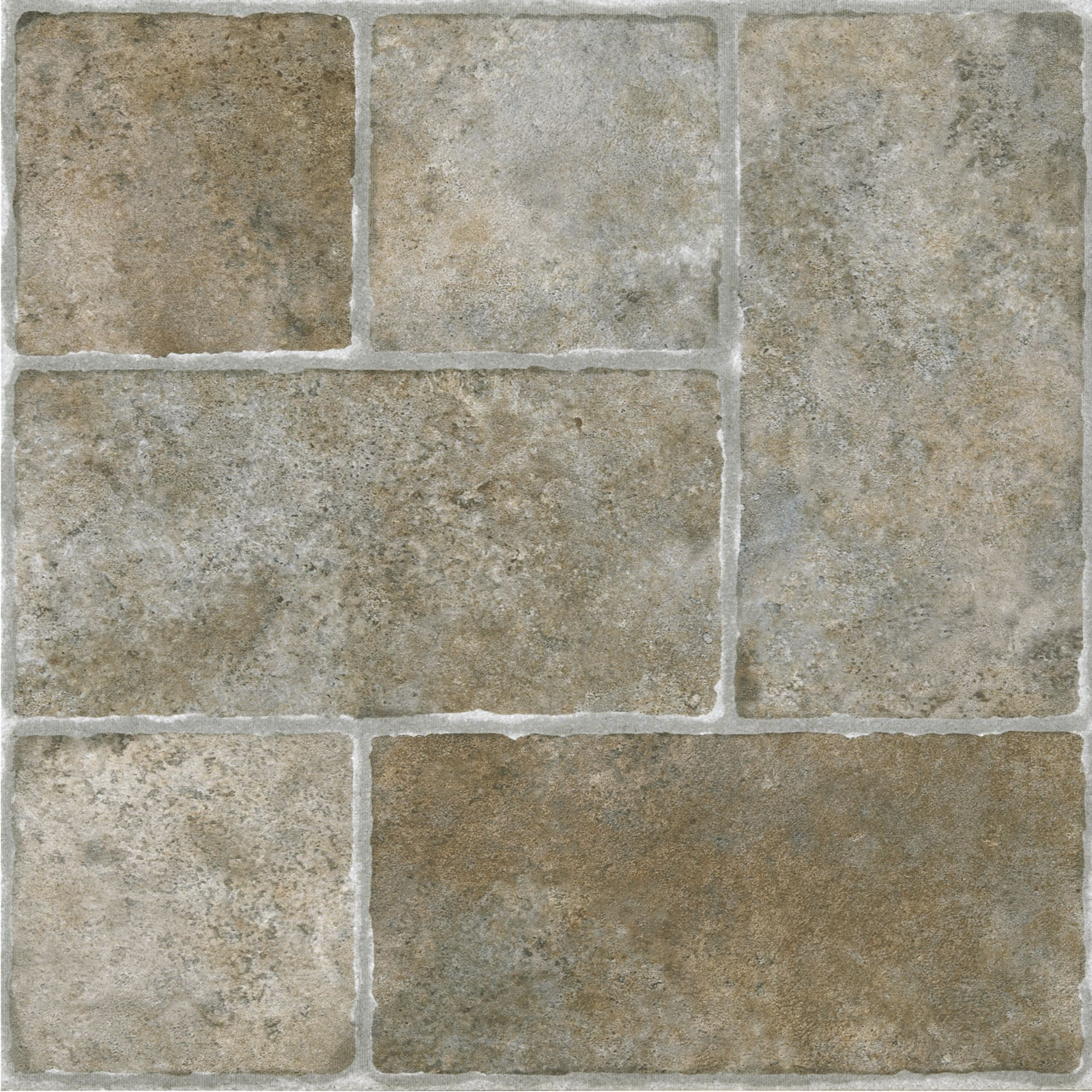 Revitalize the look of your flooring with this cottage stone self achim sterling cottage stone self adhesive vinyl floor tile 20 sq ft cottage stone grey size 12 x 12 doublecrazyfo Gallery