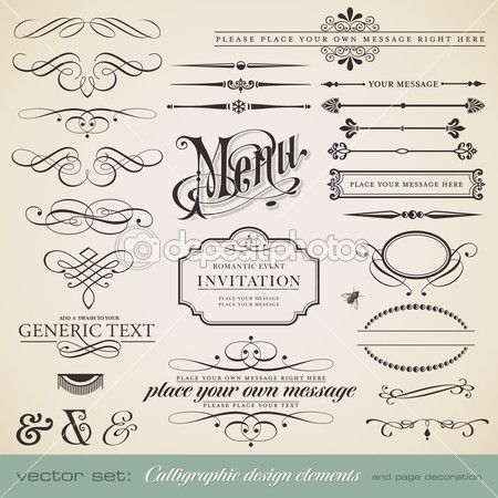 Vector Set Calligraphic Design Elements And Page Decoration 1 Stock Illustration