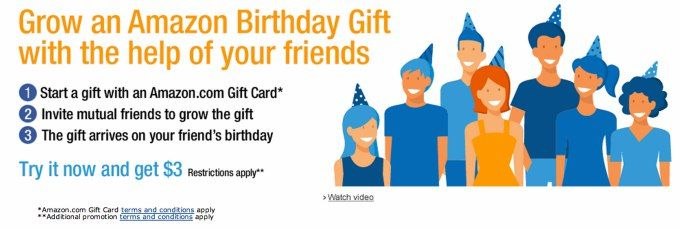 Amazons new social gifting service amazon birthday gift leverages amazons new social gifting service amazon birthday gift leverages facebook competes with facebooks own gifts negle Choice Image