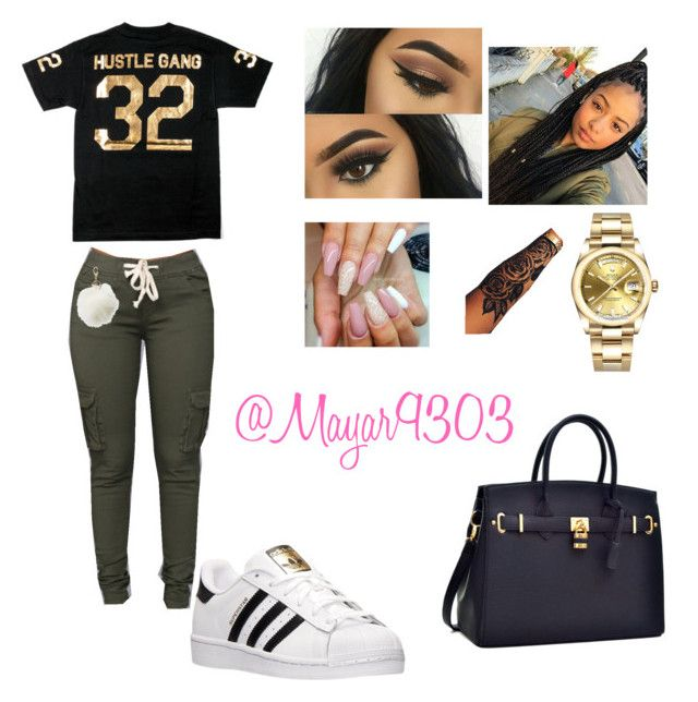 """Always Stunning"" by mayar9303 on Polyvore featuring adidas, Rolex and Charlotte Russe"