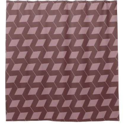 Geometric Squares Dusty Rose Shower Curtain Zazzle Com With