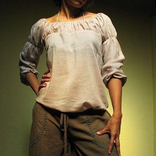 KatyaTencel/Linen Light brown LXL by cocoricooo on Etsy, $39.00