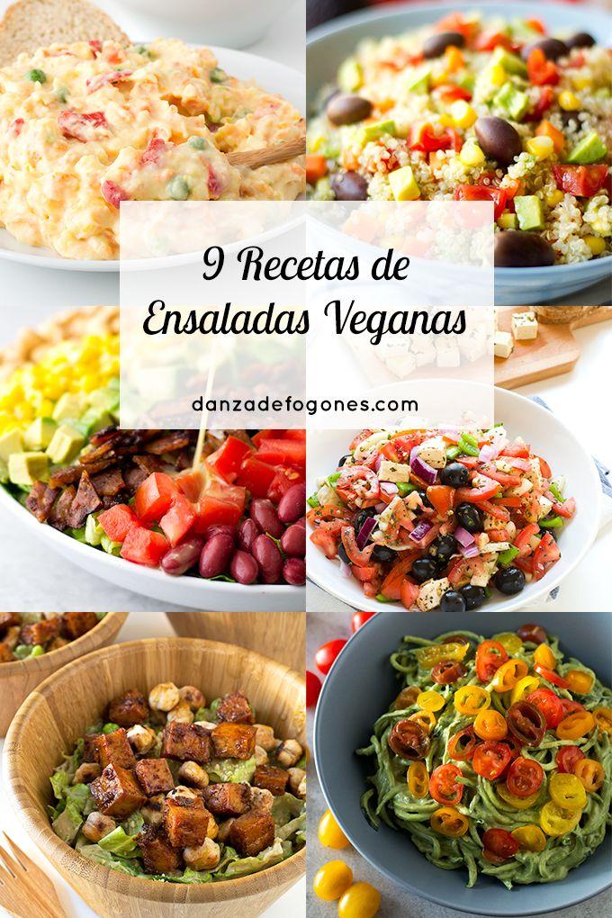 9 recetas de ensaladas veganas ensaladas pinterest for Cocina saludable