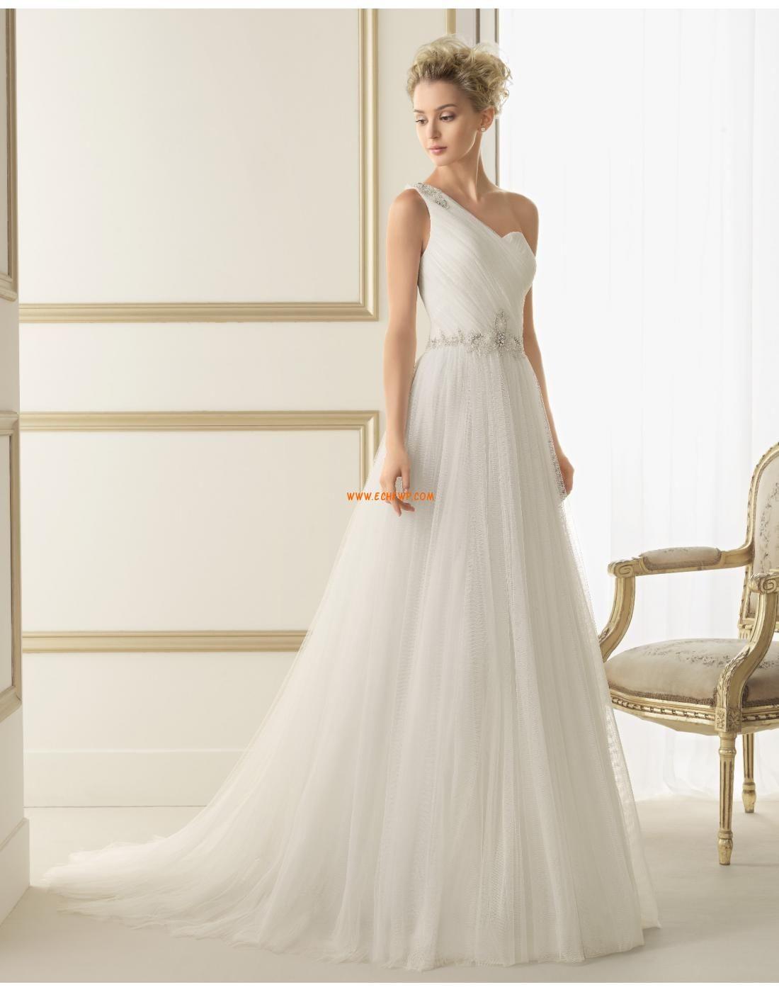 Tülle Elegant & Luxuriös Reißverschluss Brautkleider 2014 | Chiffon ...