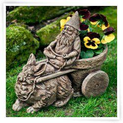 Campania International Gnome Coach Garden Statue