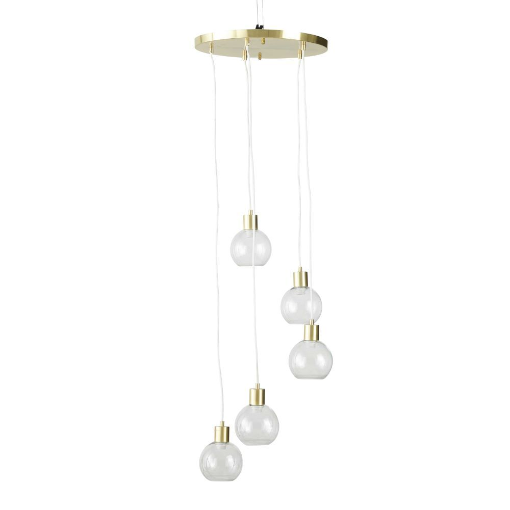 Lámpara de metal en bolas techo con de dorado y cristal 5 3qS4ALcj5R