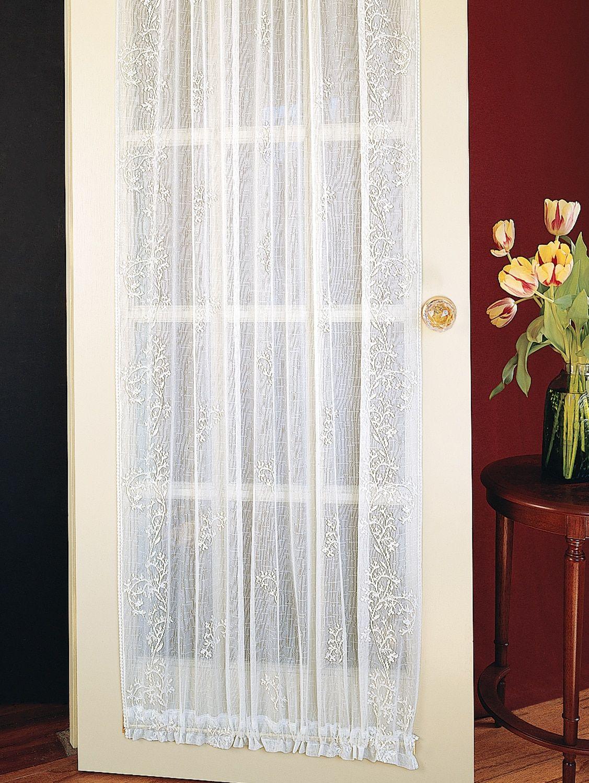 Divine Sheer Rod Pocket Door Panel With Images Panel Doors Pocket Doors Curtain Styles