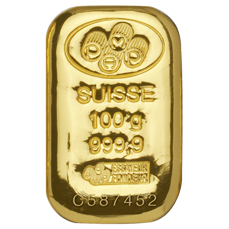 100 Gram Pamp Suisse Gold Cast Bar Malaysia Bullion Trade Goldinvesting Buy Gold And Silver Gold Bullion Bars Buy Gold Jewelry