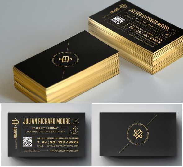 Pin by michael enerva on print design pinterest card templates 15 free print ready psd and vector business card templates reheart Images