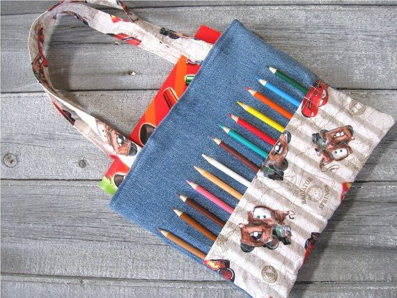 Kid bag sewing pattern DIY Coloring Bag by AnnyMayPatterns on Etsy