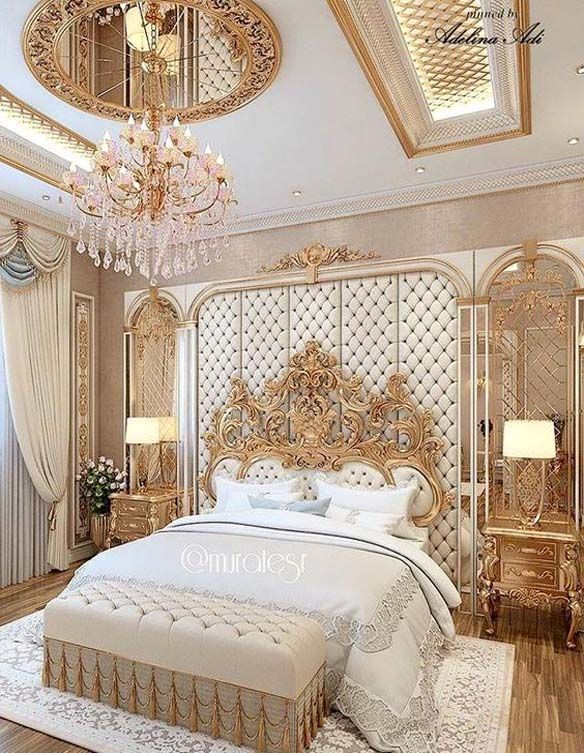 Traditional BedRoom With Wall Sconce Ideas 2018