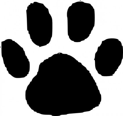 Animal Footprint Clip Art Paw Print Clip Art Animal Footprints Free Clip Art