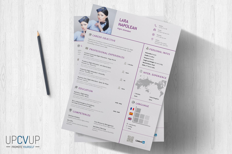 Download in word format Cabin crew flight attendant resume cv template -  upcvup Flight Attendant Resume