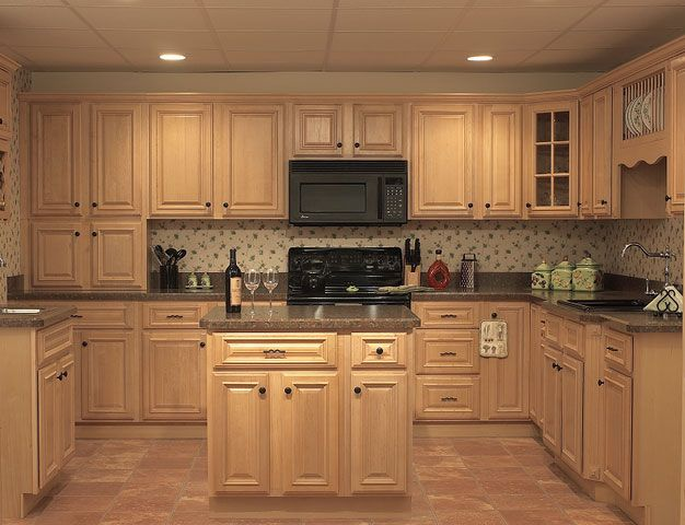 Natural Oak Kitchen Cabinets | Wishes for My home | Pinterest ...