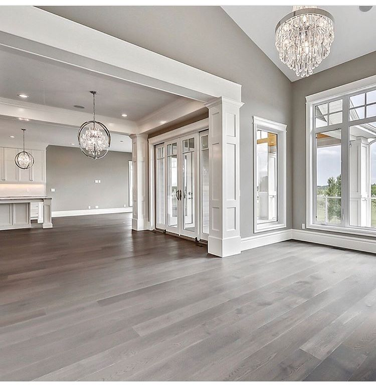 What Color Wood Floor With Gray Walls: Decorator Christin In 2019