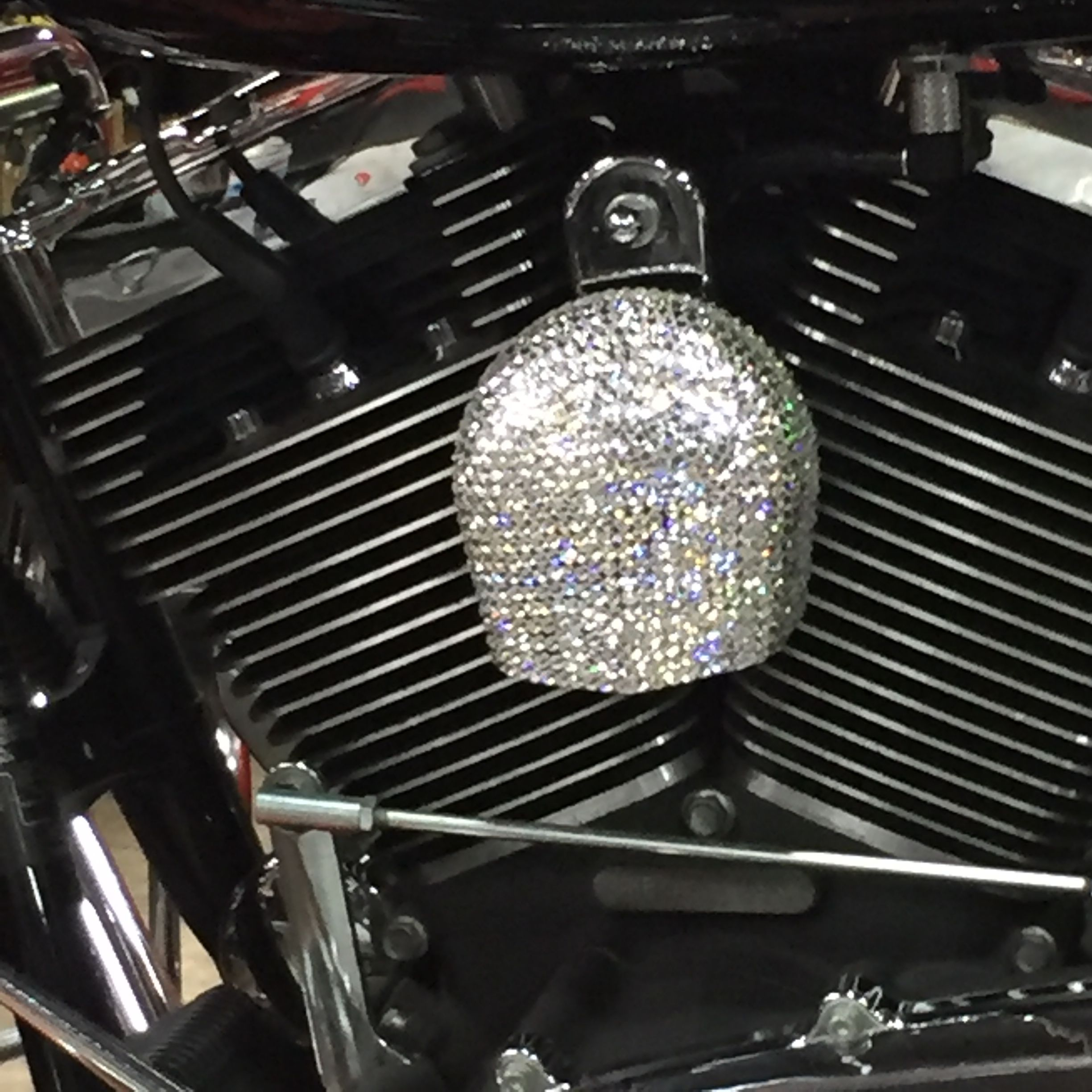 Canada On Swarovski Motorcycle