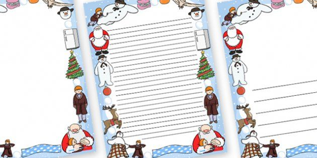 The Snowman Page Borders - page border, border, frame, writing - lined page template
