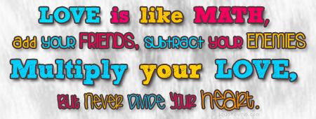 Love Is Like Math Math Quotes Love Math Math Notes