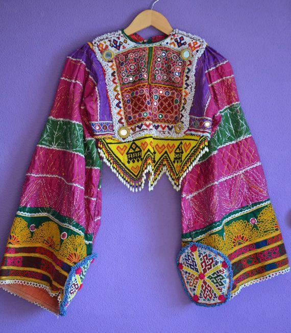 KUCHI CHOLI BANJARA Afghan Top Ethnic Top Belly por MISIGABRIELLA
