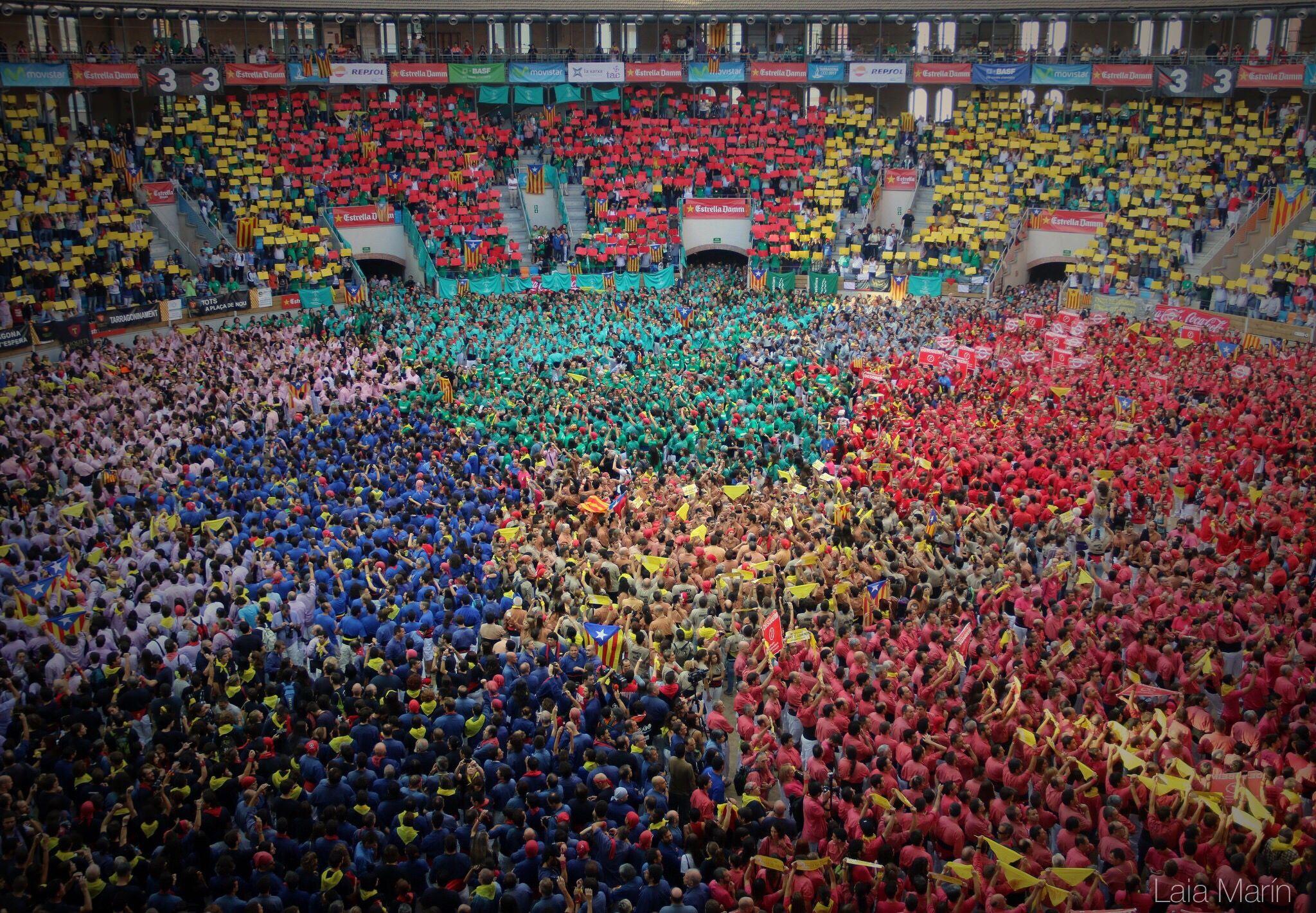 Els colors del XXV Concurs de Castells.