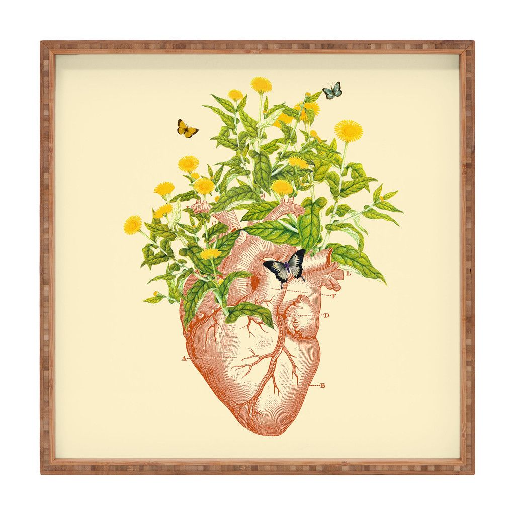 Budi Kwan The Heart In Bloom Square Tray | DENY Designs Home ...