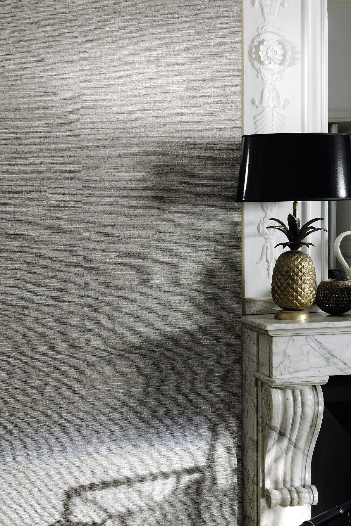 Dandy Wallpaper Grey textured wallpaper, Textured