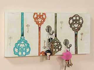 Porta llaves arte pintura lala castro pinterest - Porta llaves pared ...